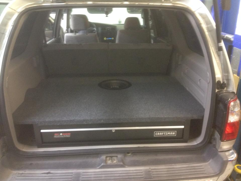 Woofer With Toolbox Installation