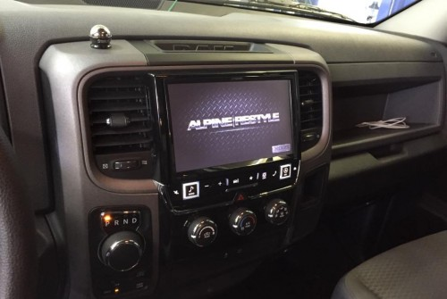 Alpine 9″ Navi Package in Dodge RAM