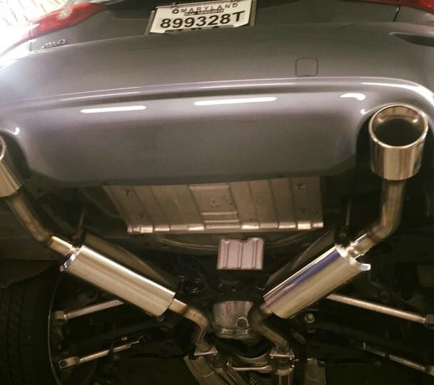 Fresh Stillen Exhaust on Infiniti Q50